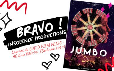 BERLINALE 2020 : Insolence Productions remporte le GUILD FILM PRIZE