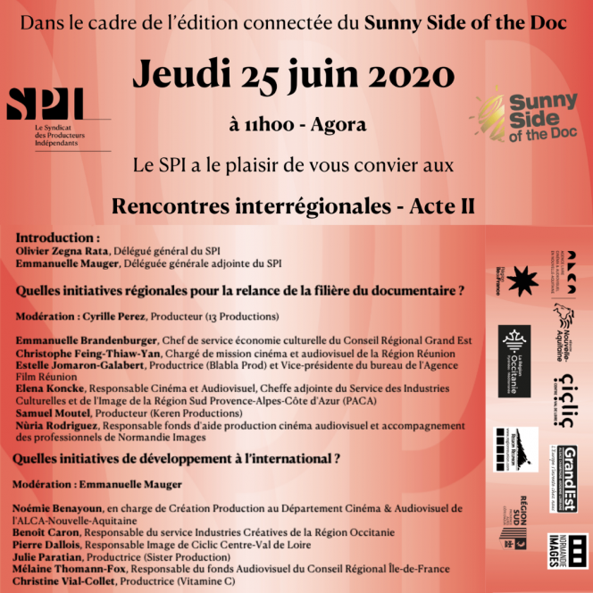 SUNNY SIDE 2020 : Le SPI organise une Table-Ronde interrégionale Jeudi 25 Juin